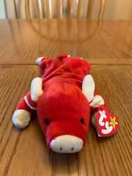 Ty Beanie Baby Snort The Bull 1995 - Mint Condition