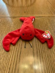 Ty Beanie Baby Pinchers The Lobster 1993 With P.v.c. Pellets - Mint Condition