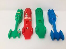 Burger Chef Rocket Racers Racing Ssp Cars Red Blue Green Cars Lot 4 Plastic Toy