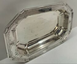 Vintage Shreve And Co. 925 Sterling Silver Serving Dish Deep Tray S Mono 592.4g