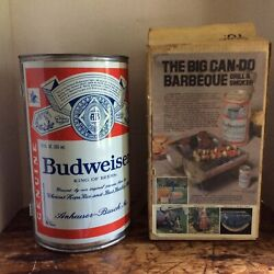 Vintage Budweise Can Can-do Fold Out Bbq Barbeque Tailgate Picnic Grill Smoker