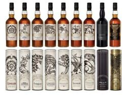 Game Of Thrones - All 9 Bottles In The Complete Set Whisky 70cl X 9. Perfette