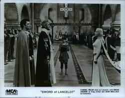 1986 Press Photo Cornel Wilde Brian Aherne And Jean Wallace In Sword Of Lancelot