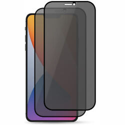 Anti-spy Privacy Tempered Glass Screen Protector For Iphone +matte Black Case