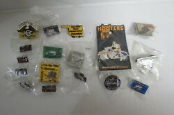 17 Misc. Harley Davidson And Motor Cycle Vest And Hat Pins B17