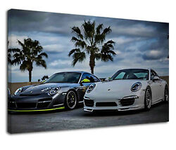 Cool Porsche 911 Classic Sports Cars Paper Posters Or Canvas Framed Wall Art