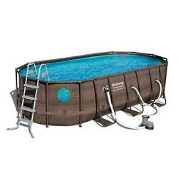 Bestway Power Steel Swim Vista 18and039 X 9and039 X 48 Above Ground Pool Set For Parts
