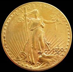 1910 S Gold United States 20 Saint Gaudens Double Eagle Coin San Francisco Mint