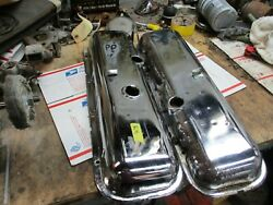 1968 Corvette Big Block Valve Covers Chrome With Dippers