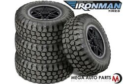 4 Ironman All Country M/t 33x12.50r15 6-ply 108q Owl Off-road Truck Mud Tires