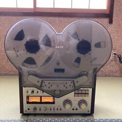 Akai Gx-635d Open Reel Deck With Empty Reel And Tape