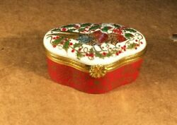 Limoges Trinket Box Christmas Box France Hand Painted By Merry Scotland