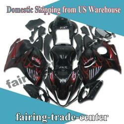 Ftc Red Flame Plastic Injection Fairing Fit For Suzuki 2008-2015 Gsxr 1300 A024