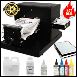 A4 Flatbed Printer Multicolor A4 Size Dtg T-shirt Printer Directly To Print Dark
