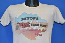 Vintage 70s Zz Top World Wide Texas Tour 1976 Beaver Productions T-shirt Small S