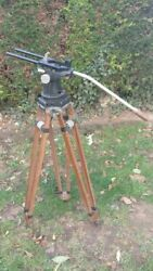 Tripod For Camera Antique, Heavy, Wooden 50s 50's For Arriflex 1 Or 2