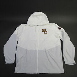 Boston College Eagles Under Armour Storm Jacket Men's White/gray New With Tags