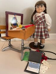 American Girl Doll Molly Vintage Retired School Desk Accessories Never Used