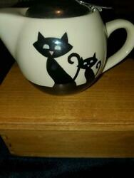 Huesnbrews Siamese Cats Teapot Ss Strainer Black Coffee Huesnbrews Retro Style