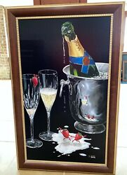Michael Godard Champagne Tango Sold Out Ltd Edition Giclee Signed 196/250 Love
