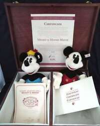 Steiff Plush Doll Mickey Mouse, Minnie Mouse Height 27 Cm, Width 15 Cm With Box