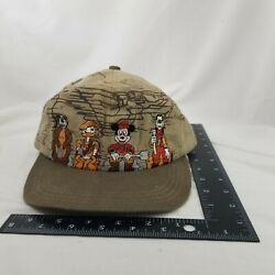 Vtg 80s Fort Wilderness Lodge Resort Cap Hat Disney Mickey Mouse Camp Sz Youth