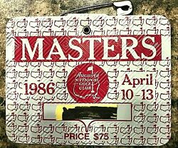 1986 Used Masters Golf Badgecollectors Itemvery Very Rare Ticketjack Nicklaus