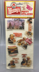 Vintage Wendy's Puffy Stickers - Clara Peller - Where's The Beef
