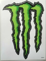 Brand New 2 Monster Energy Stickers 8.5 X 6 Inch 2 Pack Of Stickers