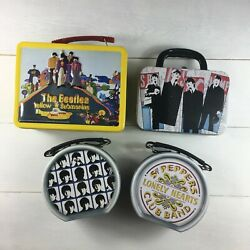 Lot Of 4 Vintage Beatles Lunchbox Yellow Submarine 1999-2003