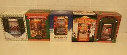 Budweiser Holiday Stein Collection 1993-2002 Boxed Coa Near Mint 10 Years