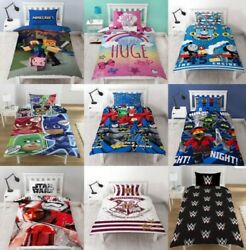 Childrens Characters Single Bed Quilt Duvet Cover And Pillowcase Kids Bedding Set