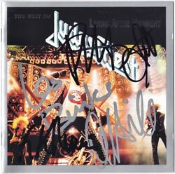 Judas Priest The Best Of Rob Halford K.k. Downing Les Binks +3 Autograph Signed