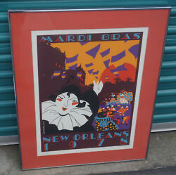1978 New Orleans Mardi Gras Charest And Brousseau Artist Signed And Numbered Poster