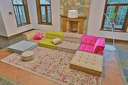 Handmade Customized Modular Buildable Sectional French Tufted Daybed Sofa Couch