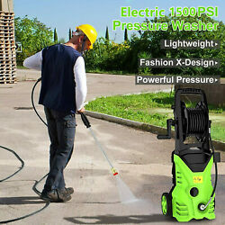 1500psi Electric Automatic Pressure Washer With Shaft 5-quick Connect Spray Tips