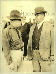 1934 Press Photo Troop Head Lindley Camp And Rome Stove Works Head A. Selman