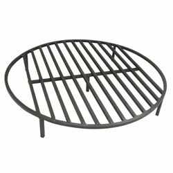 Round Fire Pit Grate 30'' Heavy Duty Grill Cooking Campfire Camp Ring 1/2 Steel