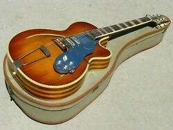 Vintage 1960s Isana Brand Archtop Acoustic Guitar Solid Woods, Amazing Condition