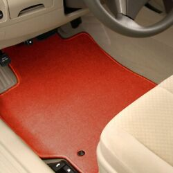 For Buick Park Avenue 91-96 Carpeted 1st And 2nd Row Burned Red Floor Mats