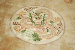 C1940s Antique Art Deco Walter Nichols Chinese Rug 6and039 X 9and039 Drogen Design Happy