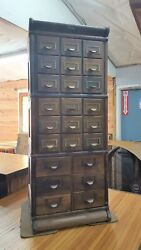 Restored Globe Wernicke Stacking Barrister Style Catalog Cabinet