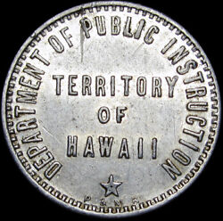 Hawaii Territory Dept Of Public Instruction 5 Cents Cafeteria Lunch Token N551