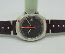 Rare Vintage 1969 Omega Chronostop Grey Dial Date 920 Manual Wind Manand039s Watch