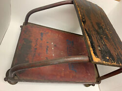 Vintage Antique Industrial Auto Mechanics Roller Snap-on Blue Point Creeper Seat