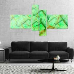 Designart And039light Green Electric Lightningand039 Abstract Art On 60 In. Wide X 32 In.