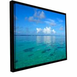 George Zucconi And039lagoon And Reefand039 Floater-framed Small