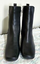 Aquatalia Boots Black Womens Size 8 Made In Italy