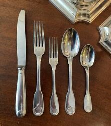 Christofle French Silver Plate Dinner Set For 8 - Vendome / Arcantia Pattern