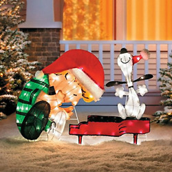 Home Sensibles Christmas Yard Art Decorations 32 Lighted Schroeder And Snoopy